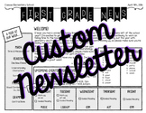 *CUSTOM* Newsletter Template