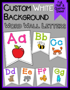 *CUSTOM* Word Wall Letters - White Background