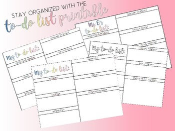 *CUSTOM* teacher to-do list/organization notepad