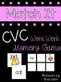 {CVC Match It} Word Work [Reading] Station Literacy Center Memory Game