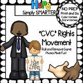 """""""CVC"""" Rights Movement:  NO PREP Martin Luther King Themed Roll and Remove Game"""