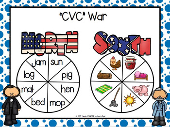 """CVC"" War:  NO PREP Abraham Lincoln Themed Spin Game"