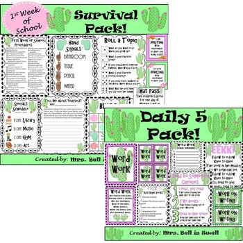 **Cactus BUNDLE** (7 Different Resources Included!)