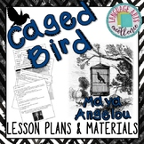 """""""Caged Bird"""" (Angelou) Lesson Plan & Materials"""