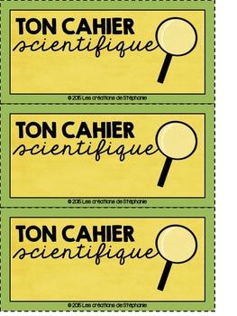 ¤ Cahier de sciences (ensemble) ¤