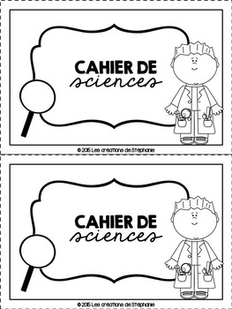 ¤ Cahier de sciences (ensemble) ¤