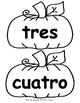 ¡Calabazas! - Numbers in Spanish POSTERS + COLOR & CUT FLA