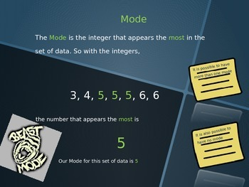 -Calculating and Identifying Mean, Median, Mode and Range