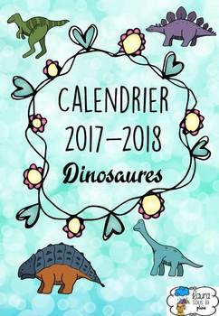 [Calendrier 2017-2018] Dinosaures + éditable