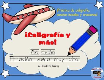 !Caligrafía y más! Spanish Handwriting Sheets using Spanis