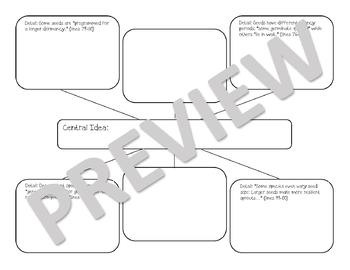 """""""Called Out"""" Graphic Organizer for Key Ideas and Details"""