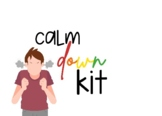"""Calm Down Kit"" Label tag"