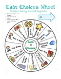 """Calming Choices Wheel"" for Self-Regulation"