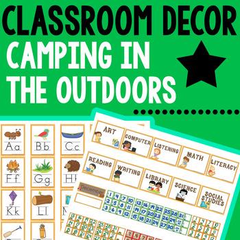 Camping Classroom Decor and Classroom Management Set