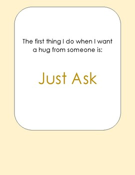 """""""Can I Have a Hug"""" Social Story"""