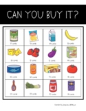 """""""Can You Buy It?"""" grocery store money game"""