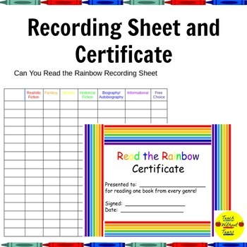 """""""Can You Read the Rainbow"""" Reading Challenge"""