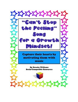"""New! """"Can't Stop the Feeling"""" Song Lyrics for a Growth Mindset!!"""