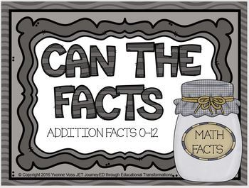 """""""Can"""" the Addition Facts"""