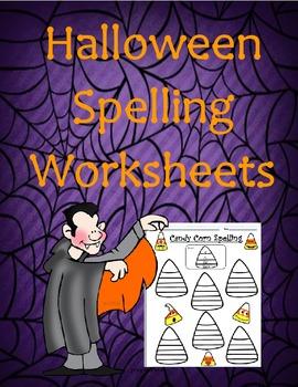 * Candy Corn Spelling Worksheet * Free - Halloween (October) Spelling Homework