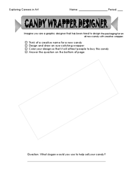 'Candy Wrapper Designer' Career in Art Activity Set