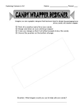 'Candy Wrapper Designer' Career in Art Activity Set