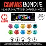 *Canvas Course Design Set* Includes HEADERS, BUTTONS, BORD