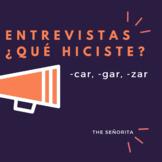 -Car -Gar -Zar Interviews (Pair Speaking Activity)