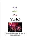 -Car -Gar -Zar verbs (Past Tense Rap)