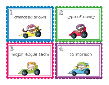 """Car"" Riddles: Critical Thinking Task Cards"