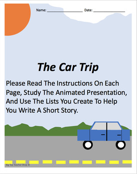 """Car Trip"" Writing Prompt Accompanying Worksheets"