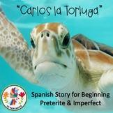 """Carlos la Tortuga"" Beginning Spanish Preterite vs. Imperfect Story"