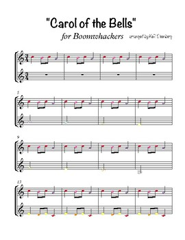 """Carol of the Bells"" for Boomwhackers"