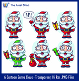 'Cartoon Santa Claus' Set (Digital Clip Art)