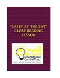 """Close Reading Lesson on """"Casey at the Bat"""" includes media component and PBAs"""