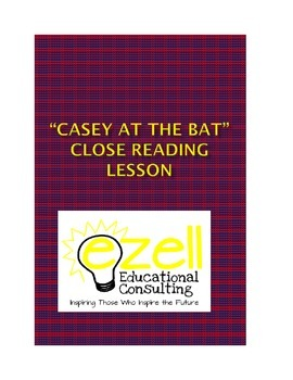 "Close Reading Lesson on ""Casey at the Bat"" includes media component and PBAs"