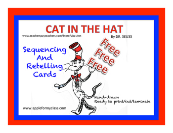 "Free - ""Cat In The Hat"" Sequencing and Retell Cards"