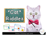 """Cat"" Riddles: Critical Thinking Task Cards"
