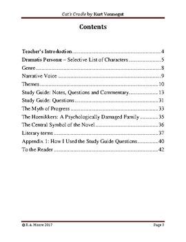 """""""Cat's Cradle"""" by Kurt Vonnegut: A Study Guide"""