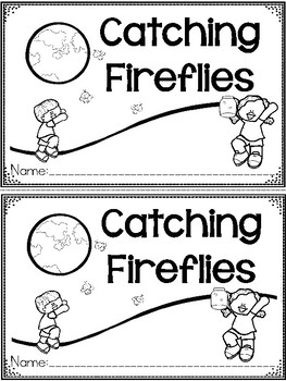 """""""Catching Fireflies"""" A June/Summer Emergent Reader and Response Dollar Deal"""
