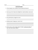 """""""Catching the Moon"""" Constructed Response Questions"""