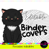 """""""Cats"""" Editable binder covers (Ppt)"""
