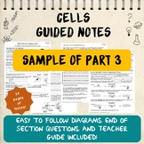 Cell Guided Notes, Sample of Part 3