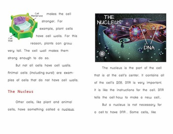 """""""Cells"""" – Printable Book on Cells for Low-Literacy High School Students"""