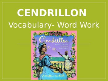 """Cendrillon"" Vocabulary: Cinderella Guidebook Unit"
