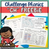 Challenge Phonics Digraph Worksheets | CH Digraph Freebie