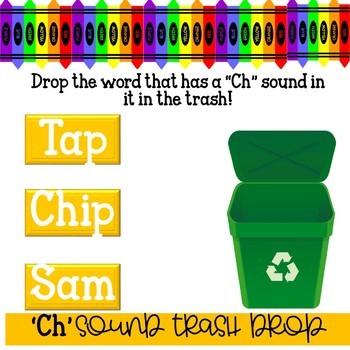 'Ch' Sound Digital Task Cards WITH SOUND!