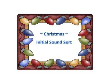 ~ ChRiStMaS ~ Initial Sound Sort