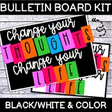 """""""Change your THOUGHTS--Change your LIFE"""" Bulletin Board Letters"""