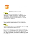 """""""Character Analysis in Text"""" Grades 4 & 5   Read Aloud Lesson Plan"""